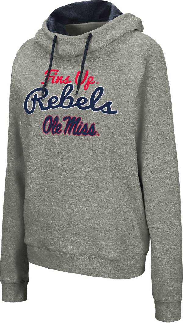 Colosseum Women's Ole Miss Rebels Grey Studio Funnel Pullover Hoodie product image