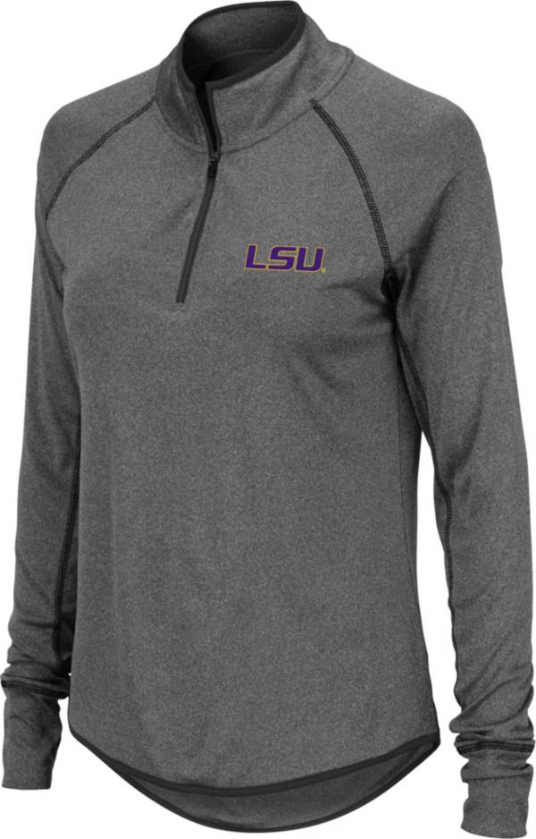 Colosseum Women's LSU Tigers Grey Stingray Quarter-Zip Shirt product image