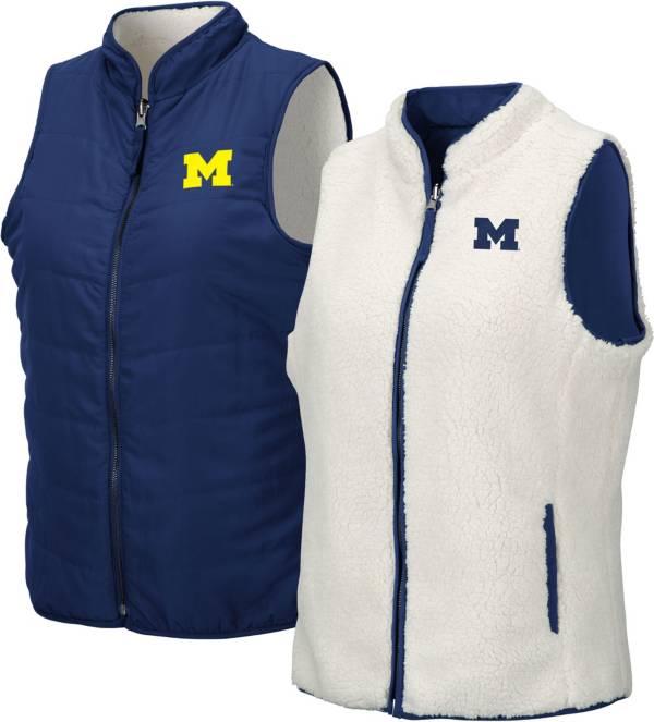 Colosseum Women's Michigan Wolverines Blue Blatch Reversible Full-Zip Vest product image