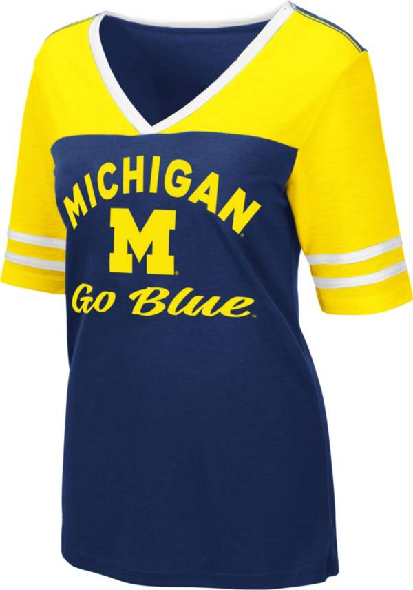Colosseum Women's Michigan Wolverines Blue Samantha T-Shirt product image