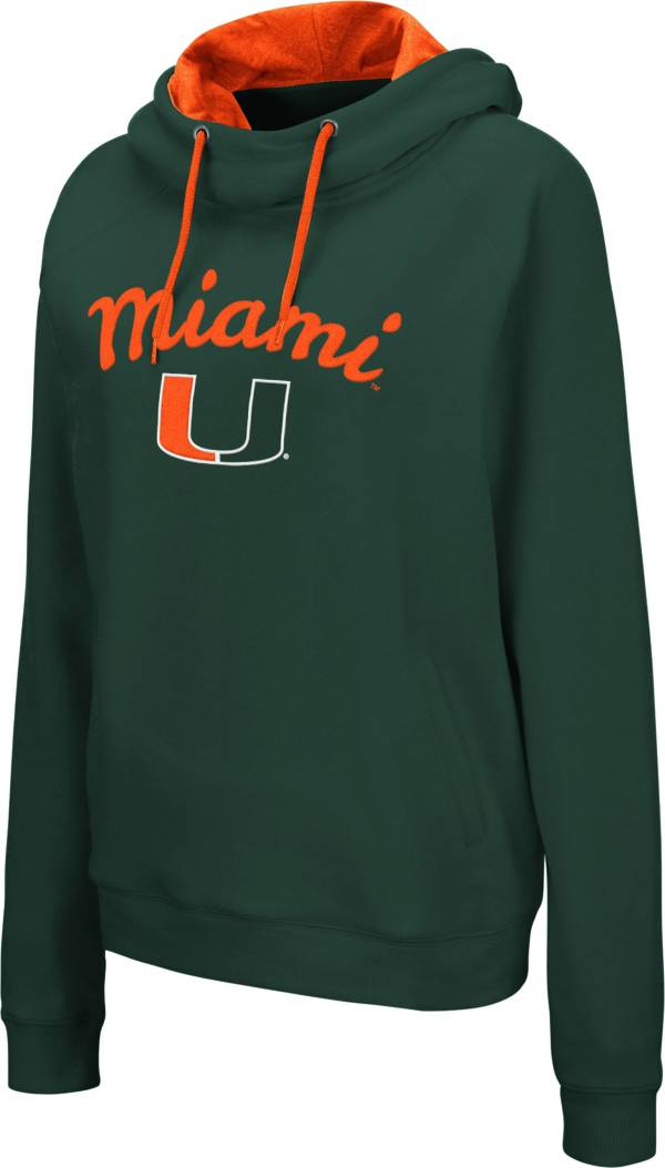 Colosseum Women's Miami Hurricanes Green Louise Pullover Sweatshirt product image