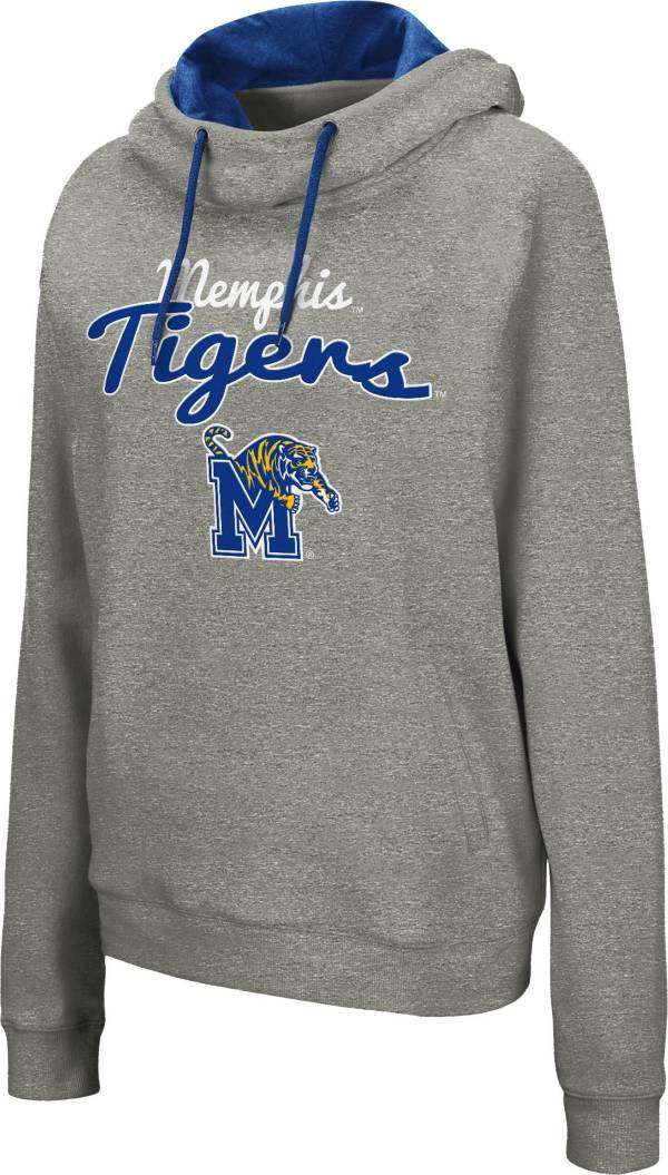 Colosseum Women's Memphis Tigers Grey Studio Funnel Pullover Hoodie product image
