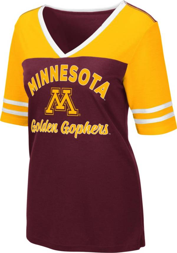 Colosseum Women's Minnesota Golden Gophers Maroon Samantha T-Shirt product image
