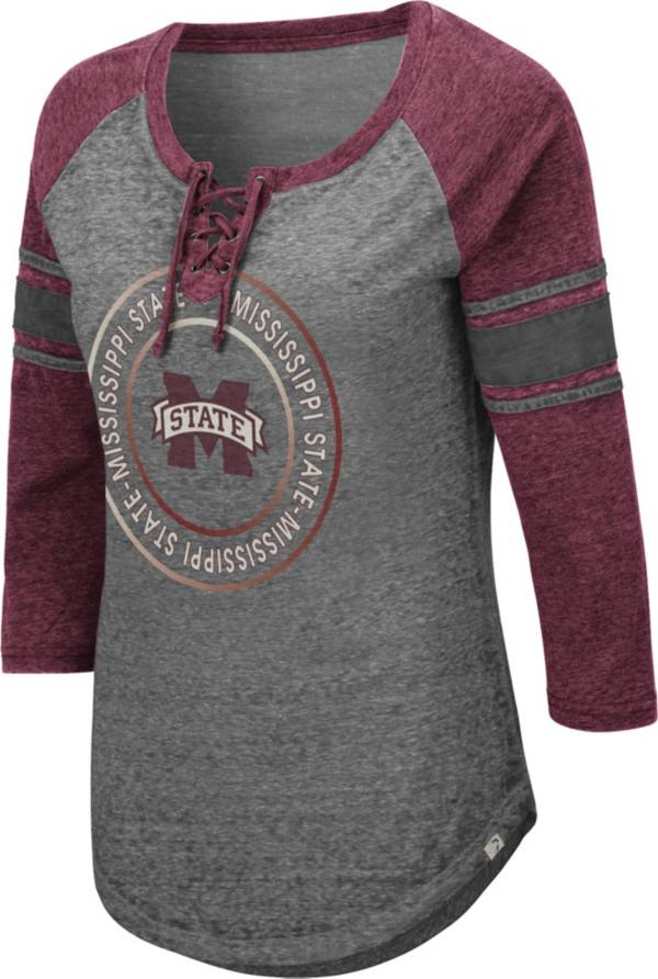 Colosseum Women's Mississippi State Bulldogs Grey Carrie Long Sleeve T-Shirt product image