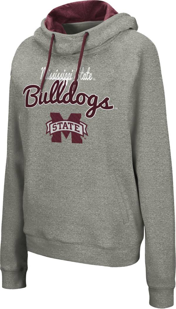 Colosseum Women's Mississippi State Bulldogs Grey Studio Funnel Pullover Hoodie product image
