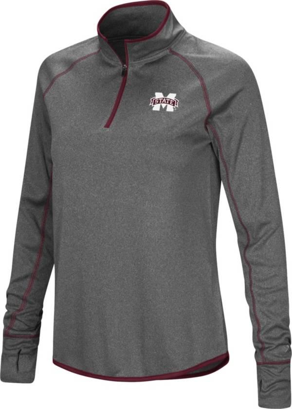 Colosseum Women's Mississippi State Bulldogs Grey Stingray Quarter-Zip Shirt product image