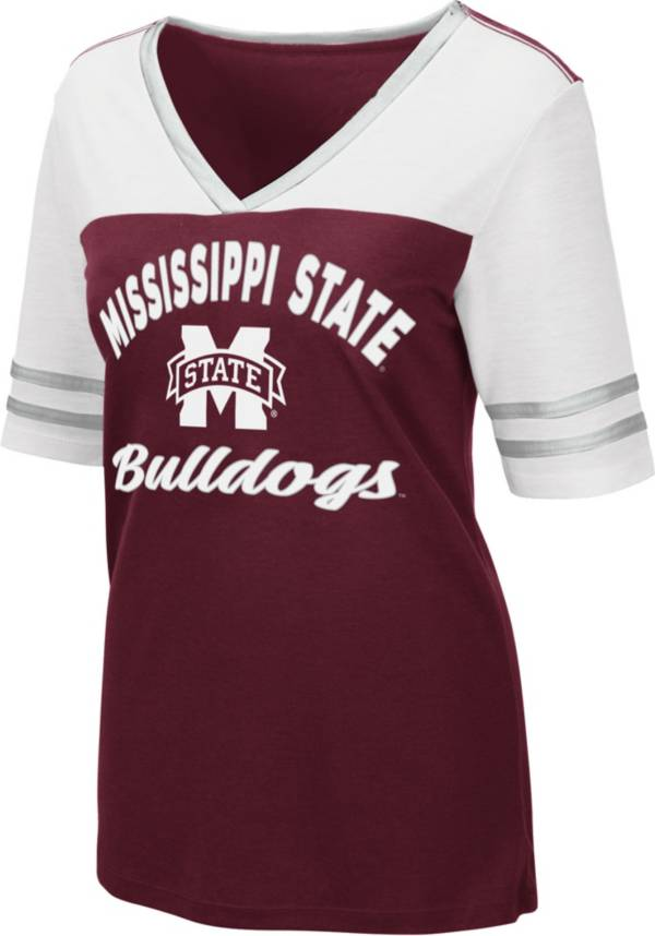 Colosseum Women's Mississippi State Bulldogs Maroon Samantha T-Shirt product image