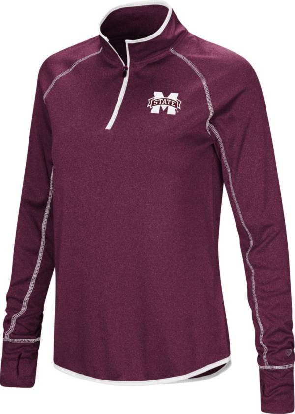 Colosseum Women's Mississippi State Bulldogs Maroon Stingray Quarter-Zip Shirt product image