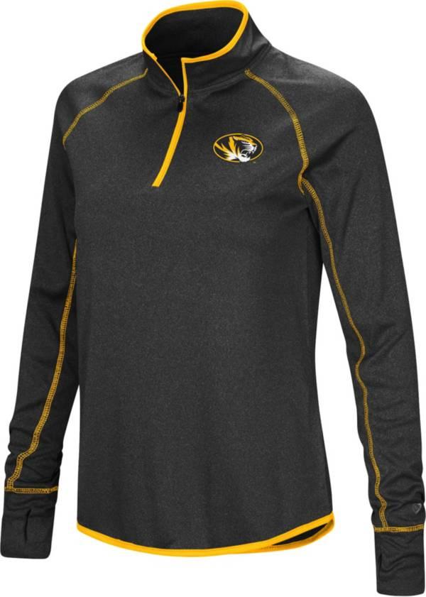 Colosseum Women's Missouri Tigers Stingray Quarter-Zip Black Shirt product image
