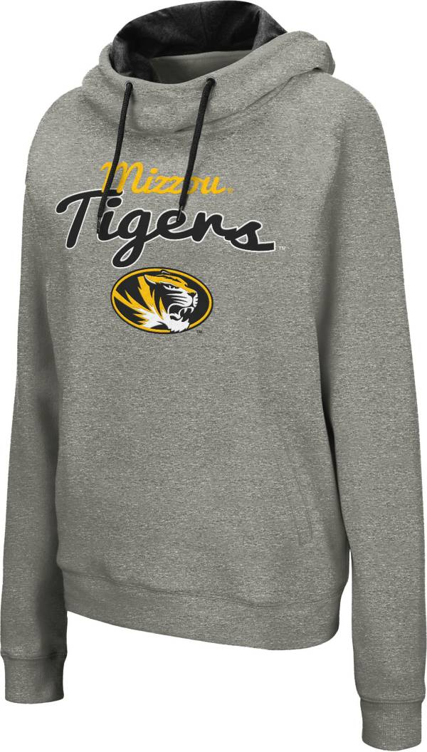 Colosseum Women's Missouri Tigers Grey Studio Funnel Pullover Hoodie product image