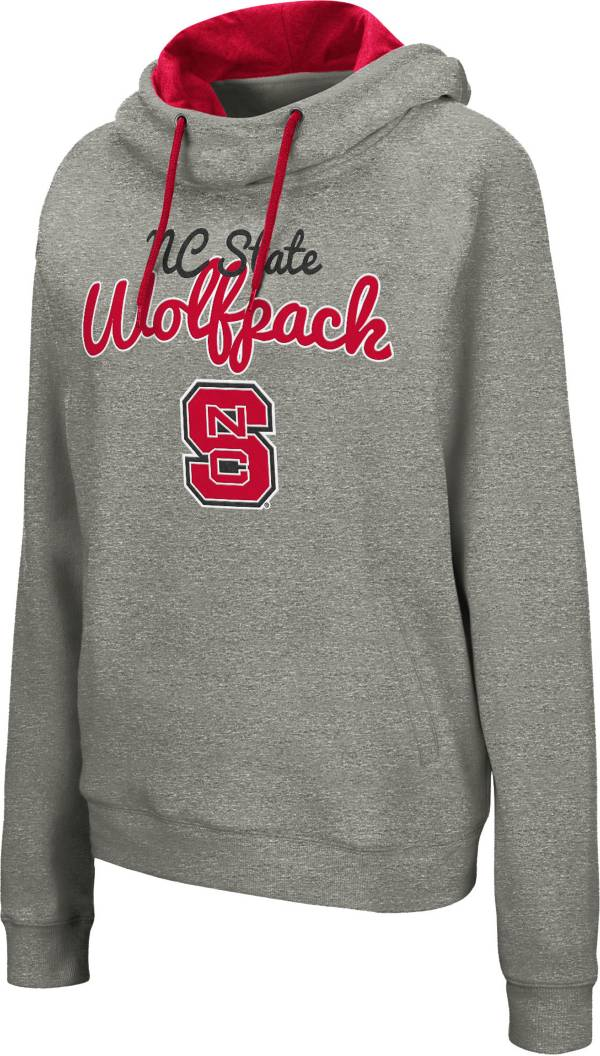 Colosseum Women's NC State Wolfpack Grey Studio Funnel Pullover Hoodie product image