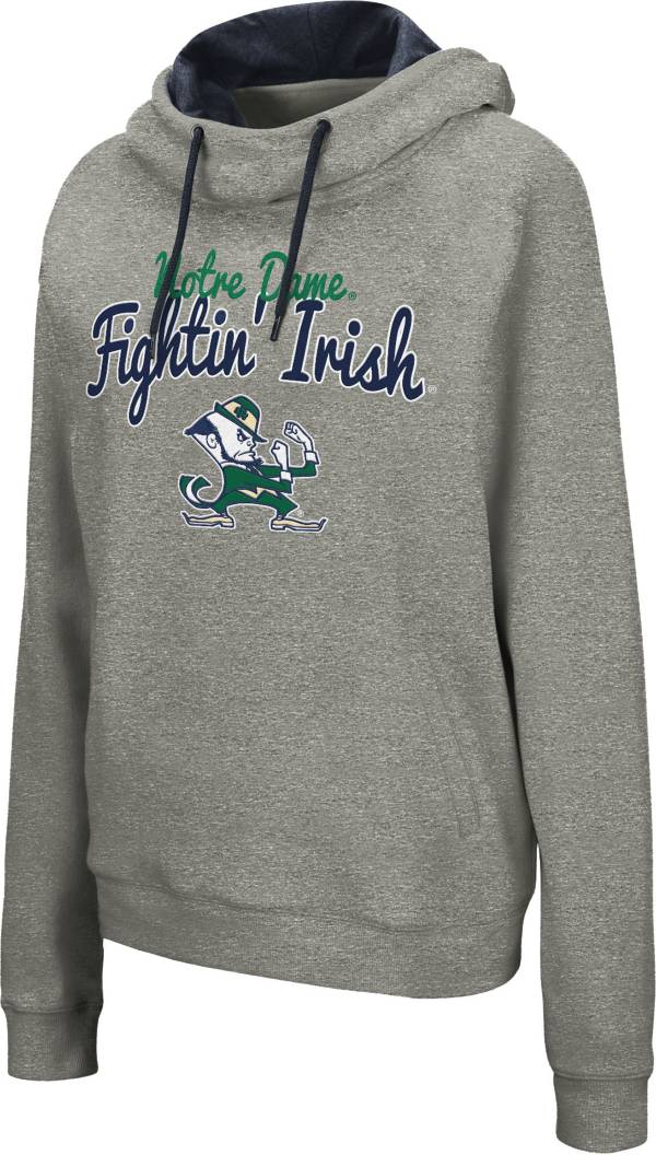 Colosseum Women's Notre Dame Fighting Irish Grey Studio Funnel Pullover Hoodie product image