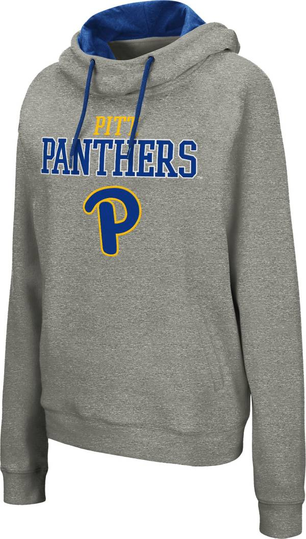 Colosseum Women's Pitt Panthers Grey Studio Funnel Pullover Hoodie product image