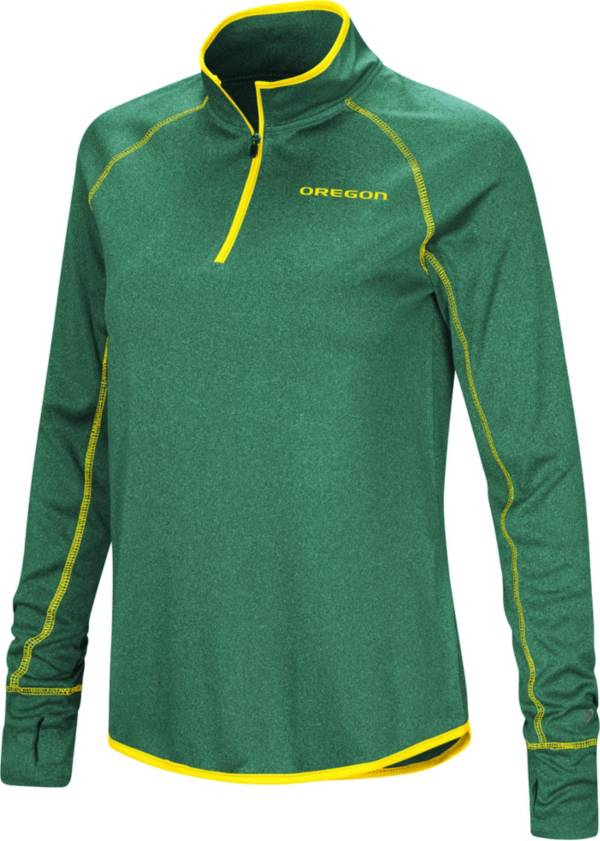 Colosseum Women's Oregon Ducks Green Stingray Quarter-Zip Pullover Shirt product image