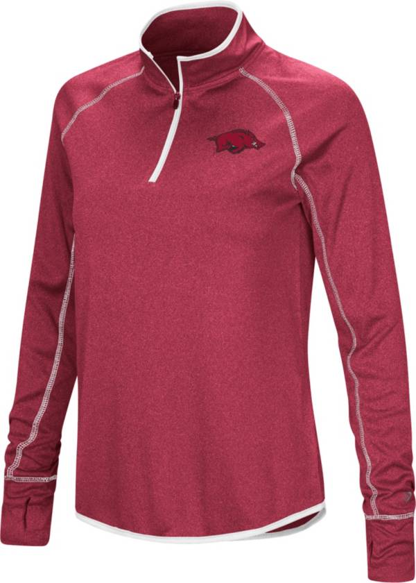 Colosseum Women's Arkansas Razorbacks Cardinal Stingray Quarter-Zip Shirt product image