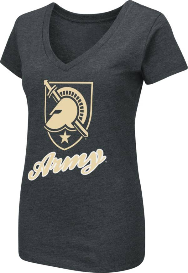 Colosseum Women's Army West Point Black Knights Army Black Dual Blend V-Neck T-Shirt product image