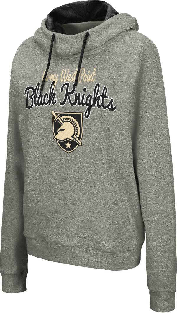 Colosseum Women's Army West Point Black Knights Grey Studio Funnel Pullover Hoodie product image