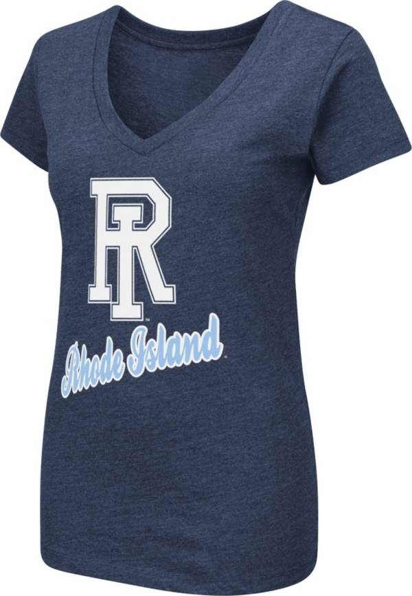 Colosseum Women's Rhode Island Rams Navy Dual Blend V-Neck T-Shirt product image