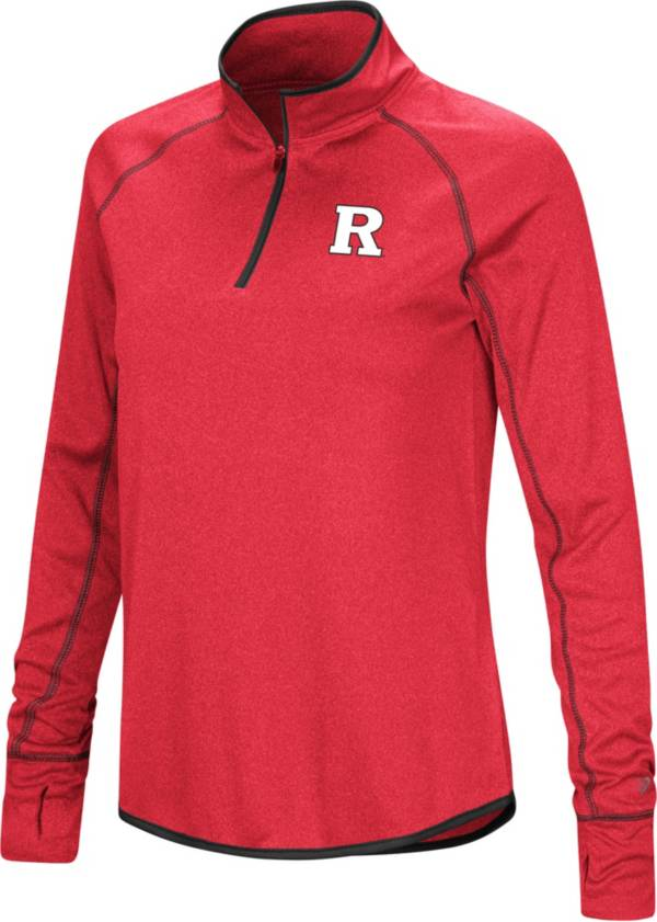 Colosseum Women's Rutgers Scarlet Knights Scarlet Stingray Quarter-Zip Shirt product image