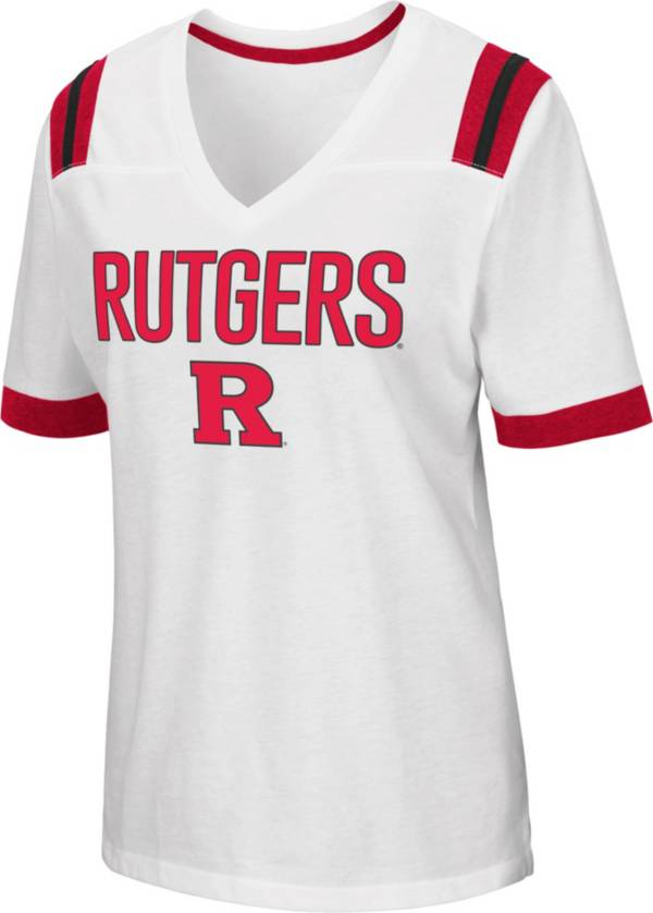 Colosseum Women's Rutgers Scarlet Knights Lowland White T-Shirt product image