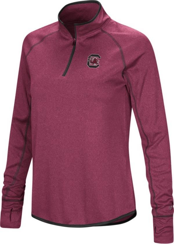 Colosseum Women's South Carolina Gamecocks Garnet Stingray Quarter-Zip Shirt product image