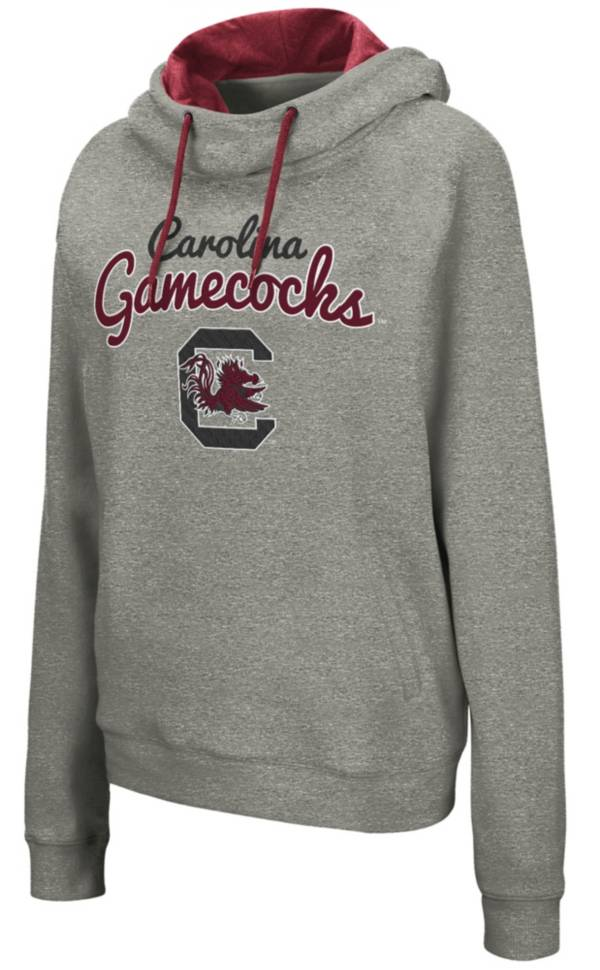 Colosseum Women's South Carolina Gamecocks Grey Studio Funnel Pullover Hoodie product image