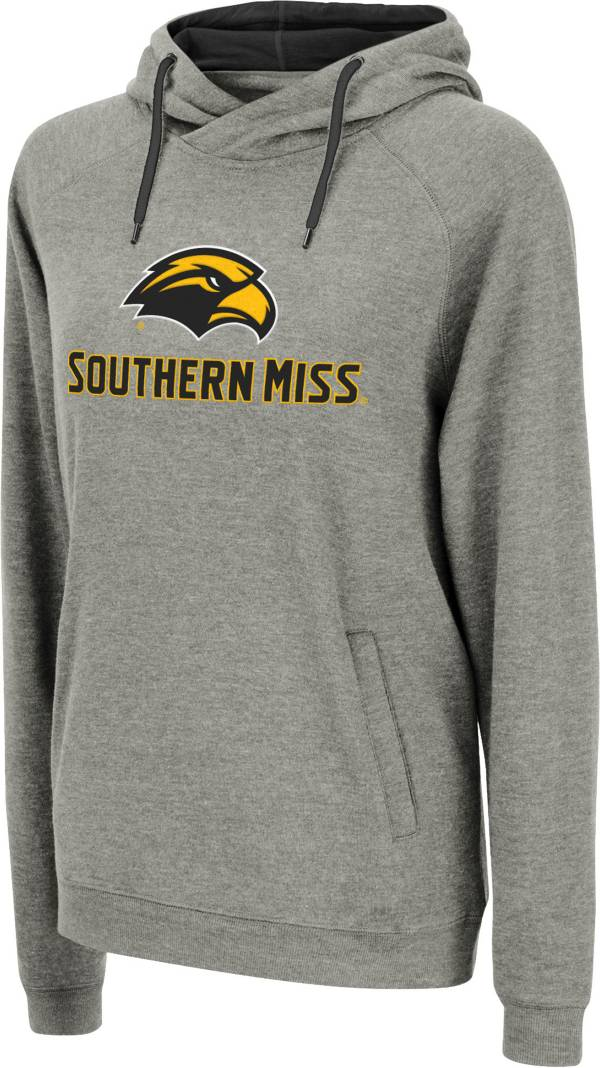 Colosseum Women's Southern Miss Golden Eagles Grey Louise Pullover Sweatshirt product image