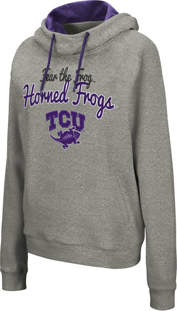 Colosseum Women's TCU Horned Frogs Grey Studio Funnel Pullover Hoodie product image