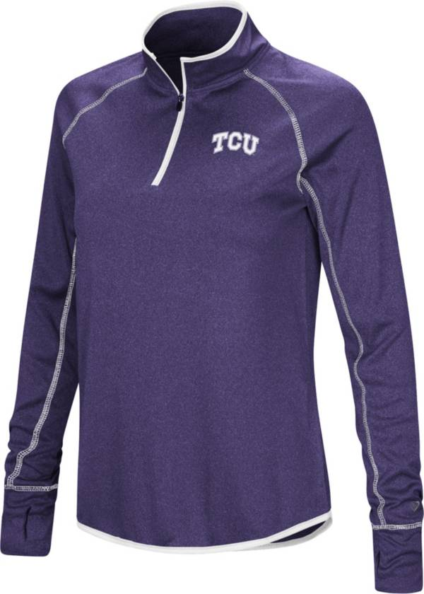 Colosseum Women's TCU Horned Frogs Purple Stingray Quarter-Zip Shirt product image