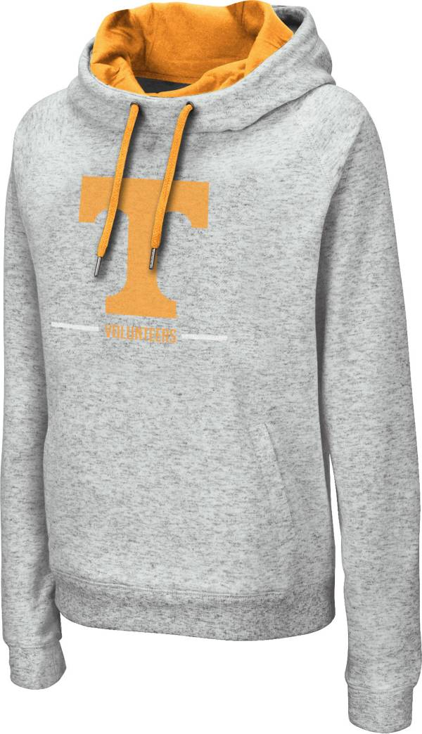 Colosseum Women's Tennessee Volunteers Grey Lily Funnel Neck Pullover Hoodie product image