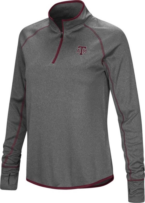 Colosseum Women's Texas A&M Aggies Grey Stingray Quarter-Zip Shirt product image