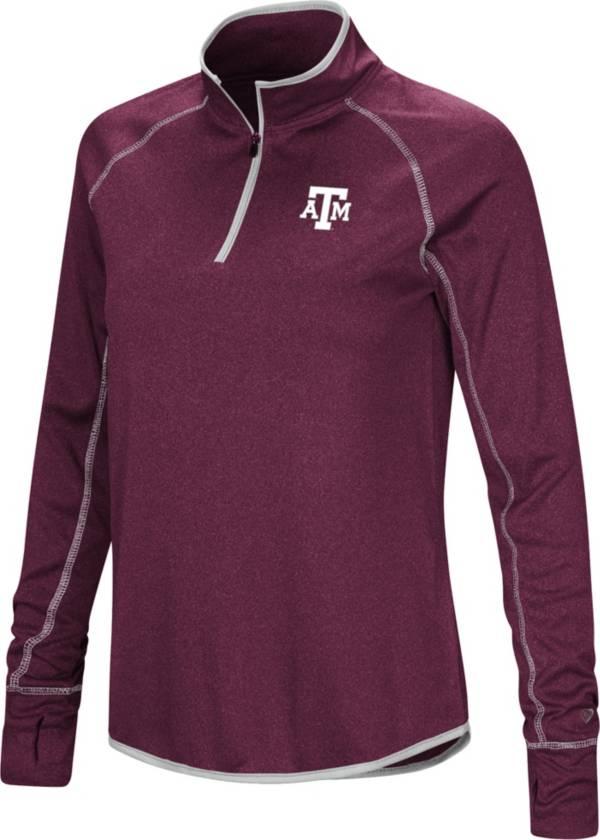 Colosseum Women's Texas A&M Aggies Maroon Stingray Quarter-Zip Shirt product image