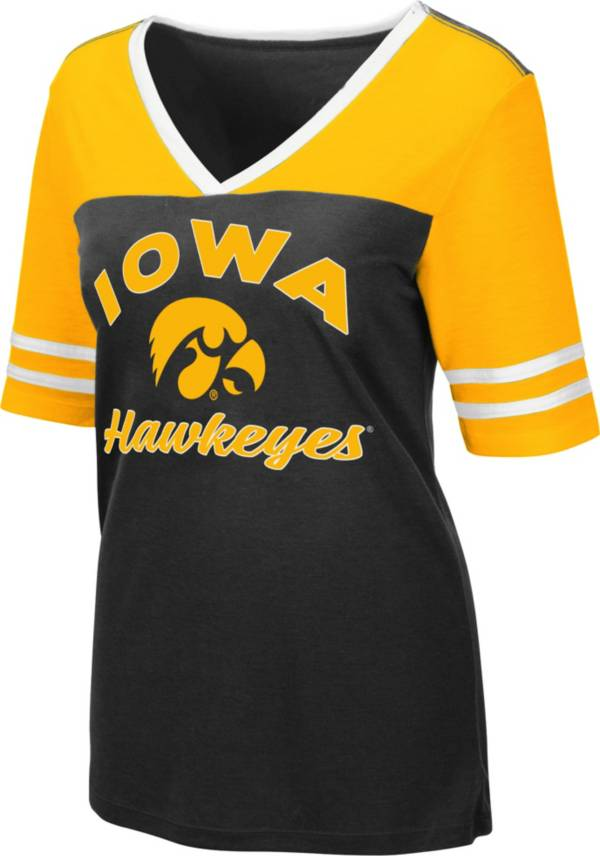 Colosseum Women's Iowa Hawkeyes Samantha Black T-Shirt product image