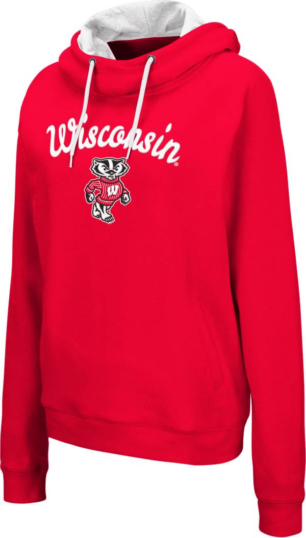 Colosseum Women's Wisconsin Badgers Red Louise Pullover Sweatshirt product image