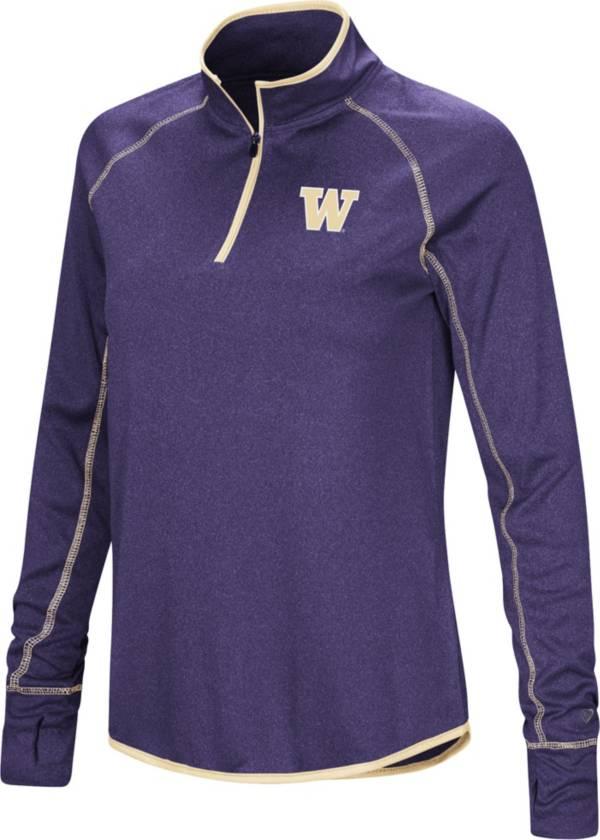 Colosseum Women's Washington Huskies Purple Stingray Quarter-Zip Shirt product image