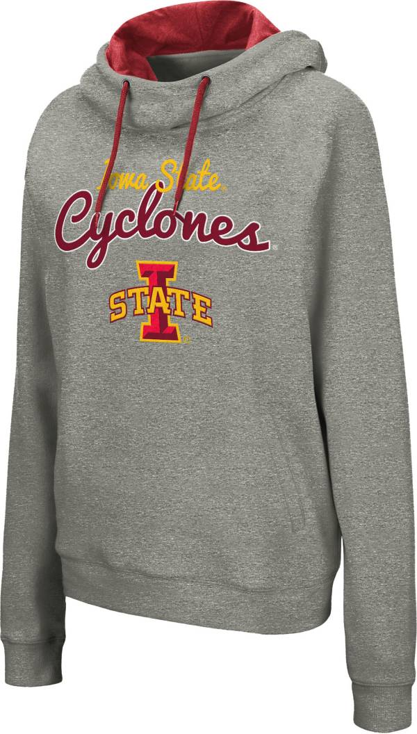 Colosseum Women's Iowa State Cyclones Grey Studio Funnel Pullover Hoodie product image