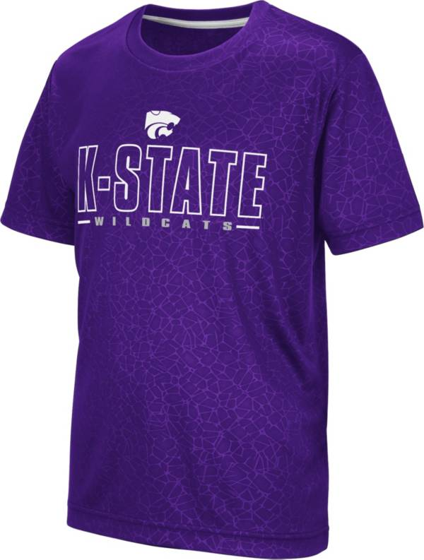 Colosseum Youth Kansas State Wildcats Purple Geoweb T-Shirt product image