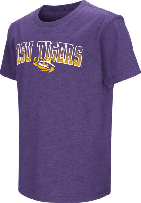 Colosseum Youth LSU Tigers Purple Dual Blend T-Shirt product image