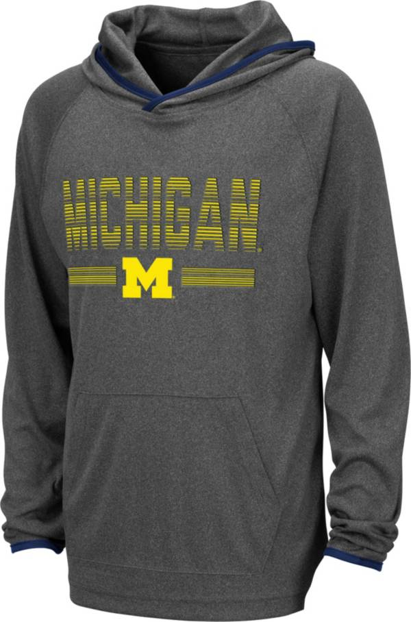 Colosseum Youth Michigan Wolverines Grey Narf! Pullover Hoodie product image