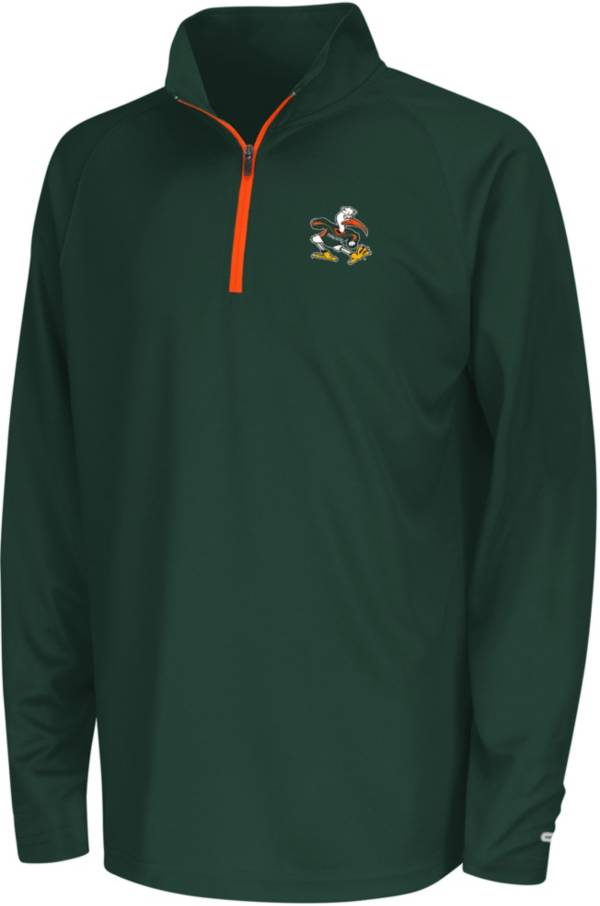 Colosseum Youth Miami Hurricanes Orange Draft Quarter-Zip Shirt product image