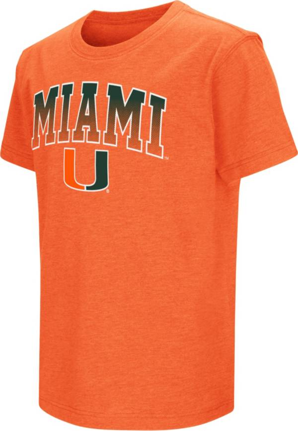 Colosseum Youth Miami Hurricanes Orange Dual Blend T-Shirt product image