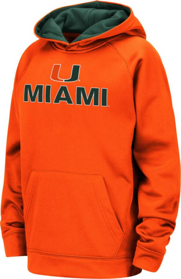 Colosseum Youth Miami Hurricanes Orange Pullover Hoodie product image