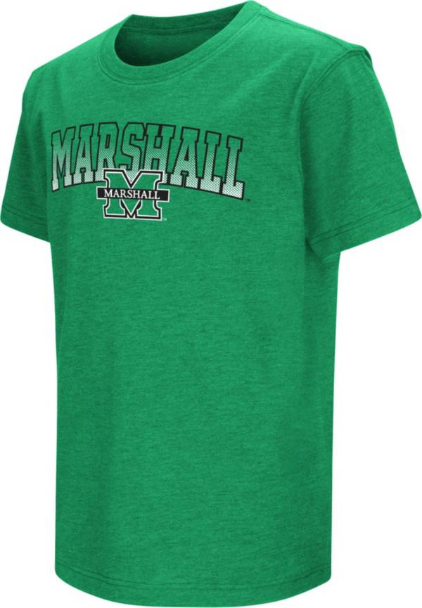 Colosseum Youth Marshall Thundering Herd Green Dual Blend T-Shirt product image