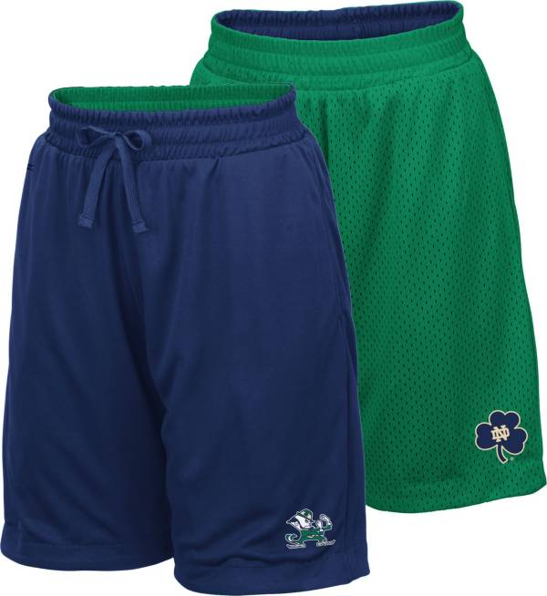 Colosseum Youth Notre Dame Fighting Irish Navy/Green Field Trip Reversible Shorts product image