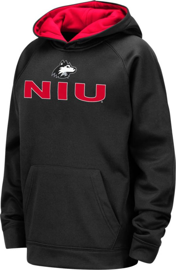 Colosseum Youth Northern Illinois Huskies Pullover Black Hoodie product image