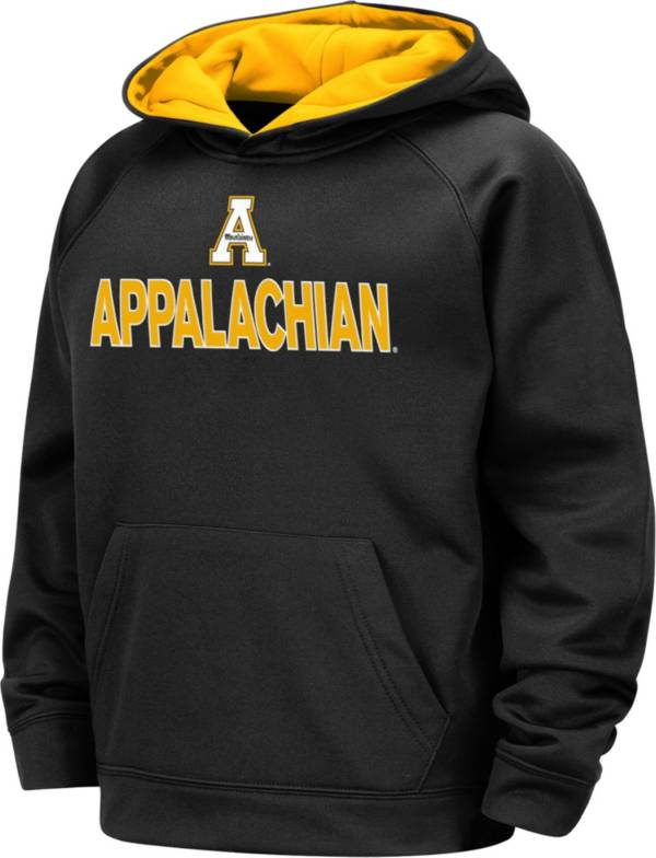 Colosseum Boys' Appalachian State Mountaineers Pullover Black Hoodie product image