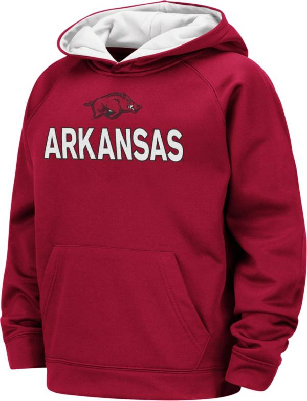 Colosseum Boys' Arkansas Razorbacks Cardinal Pullover Hoodie product image
