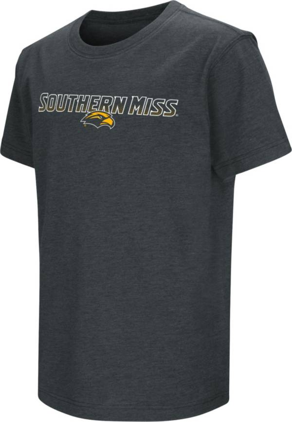 Colosseum Youth Southern Miss Golden Eagles Dual Blend Black T-Shirt product image