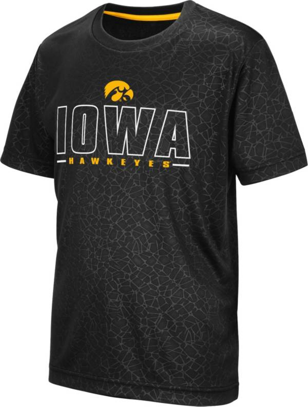 Colosseum Youth Iowa Hawkeyes Geoweb Black T-Shirt product image
