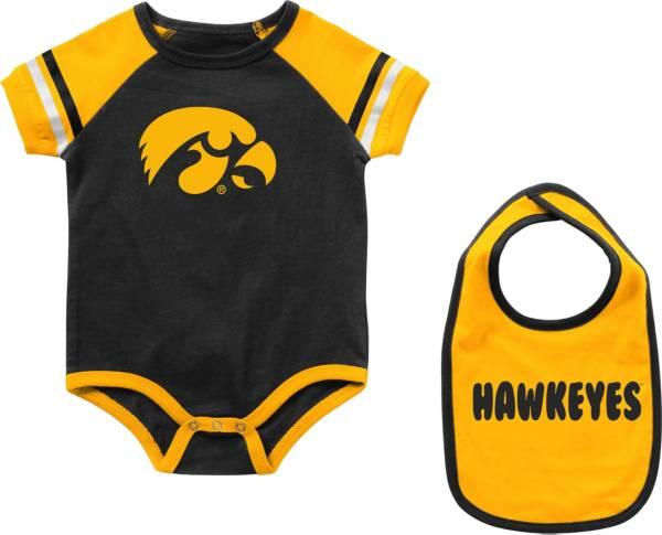 Colosseum Infant Iowa Hawkeyes Warner 2-Piece Onesie Black Set product image